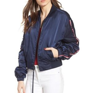 Brand new Kendall & Kylie navy bomber jacket  NWT